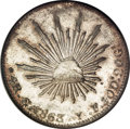 Mexico, Mexico: Republic Cap and Rays 4 Reales 1863YF-Go,...