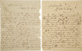 Miscellaneous:Ephemera, Andres de la Garza. A Pair of 1845 Autograph Letters WithInteresting Content on the Antecedents of the Mexican-AmericanWar.... (Total: 2 Items)