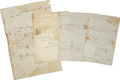 Military & Patriotic:Foreign Wars, General Filipe de la Garza Four Documents Signed. ... (Total: 4 Items)