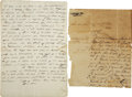 Autographs:Non-American, J.M. Guerra Letter Signed Regarding an Indian Attack.... (Total: 2Items)