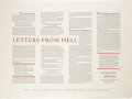 Books:Signed Editions, Stephen King. Letters from Hell Limited EditionBroadside....