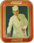 Advertising:Trays, 1927 Soda Jerk Coca-Cola Tray,...