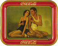 Advertising:Trays, Coca-Cola Original Johnny Weissmuller Tray Dated 1934...