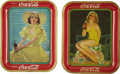 Advertising:Trays, Two Vintage Coca-Cola Trays.... (Total: 2 Items)