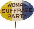 Political:Pinback Buttons (1896-present), Woman's Suffrage Party Oval Pin....