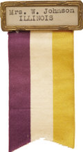 Political:Ribbons & Badges, [Woman's Suffrage] National Woman's Party Convention Delegate Badge and Ribbon...