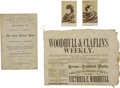 Political:Small Miscellaneous (1896-present), [Woman's Suffrage] Victoria Woodhull, the First Woman for President: A Collection of Memorabilia....