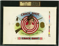 Antique Stone Lithography:Cigar Label Art, Crack Shot Hits the Mark Every Time Inner Proof Cigar Labelby The American Lithographic Co. N.Y....