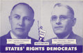 Political:Small Paper (1896-present), Thurmond & Wright: Rare Campaign Postcard for this Tough 1948 Third-Party Ticket....