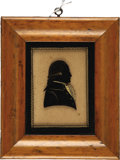 Political:3D & Other Display (pre-1896), George Washington: Fine Early 19th Century Silhouette and Original Frame....