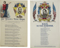 Political:Small Paper (pre-1896), Abraham Lincoln: Scarce 1864 Campaign Version of Magnus SongSheets.... (Total: 2 Items)
