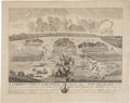 Antiques:Posters & Prints, Print: Correct View of the Battle Near the City of New Orleans,on the Eighth of January 1815, Francisco Scacki, c...