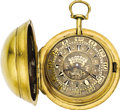 Timepieces:Pocket (pre 1900) , George Prior Fancy Dial Gilt Verge for the Turkish Market, circa1790. ...