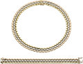 Estate Jewelry:Suites, Tricolor Gold Jewelry Suite, O. J. Perrin. ... (Total: 2 Items)