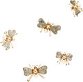 Estate Jewelry:Brooches - Pins, Antique Ruby, Diamond, Freshwater Pearl, Silver-Topped GoldBrooches. ... (Total: 5 Items)