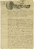 Miscellaneous:Ephemera, Juan José Balli. 1797 Legal Document Relating to a Lawsuit Over aMule....