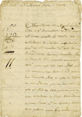 Miscellaneous:Ephemera, Indian Chief José Miguel Balli. 1808 Document Petitioning Governor Don Manuel Yturbe e Yraeta on a Matter Involving Leased She...