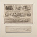 Military & Patriotic:Civil War, Original Pencil Sketch of Beaufort, South Carolina for Harper's Weekly, December 14, 1861....