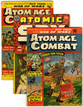 Golden Age (1938-1955):War, Miscellaneous Golden Age Atomic War Group (Various Publishers,1950-59) Condition: Average GD.... (Total: 4 Comic Books)