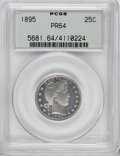 Proof Barber Quarters, 1895 25C PR64 PCGS....