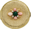 Estate Jewelry:Objects d'Art, Diamond, Conch Pearl, Chrysoprase, Gold Compact, Verdura. ...