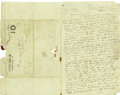 Autographs:Military Figures, General Gideon Pillow Autograph Letter Signed To His Wife. ...