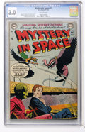 Golden Age (1938-1955):Science Fiction, Mystery in Space #7 (DC, 1952) CGC GD/VG 3.0 Off-white pages....