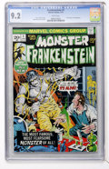 Bronze Age (1970-1979):Horror, Frankenstein #1 (Marvel, 1973) CGC NM- 9.2 White pages....