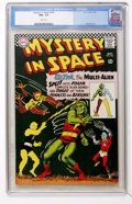 Silver Age (1956-1969):Science Fiction, Mystery in Space #107 (DC, 1966) CGC NM+ 9.6 White pages....