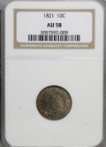 Bust Dimes: , 1821 10C Large Date AU58 NGC. NGC Census: (30/92). PCGS Population(18/64). Mintage: 1,186,512. Numismedia Wsl. Price for N...