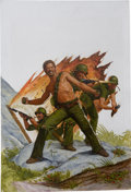 "Original Comic Art:Covers, Greg Theakston - ""The Rat Bastards"" Cover Original Art (Jove Books,1984). ..."