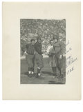 "Football Collectibles:Photos, Red Grange & George ""Wildcat"" Wilson Photograph Signed byWilson. Red Grange and George Wilson were both All-Americanrunni..."