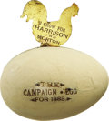 Political:3D & Other Display (pre-1896), Benjamin Harrison: Classic 1888 Mechanical Wooden Egg....
