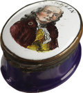 Political:3D & Other Display (pre-1896), Benjamin Franklin: Battersea Snuff Box....