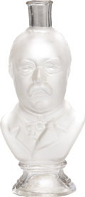 Political:3D & Other Display (pre-1896), Grover Cleveland: Frosted Glass Figural Bottle....