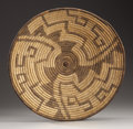 American Indian Art:Baskets, A PAPAGO COILED TRAY. c. 1920...