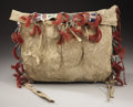 American Indian Art:Beadwork and Quillwork, A SIOUX BEADED HIDE TIPI BAG. c. 1890...