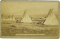 Western Expansion:Indian Artifacts, Cabinet Card photograph Indian Encampment Middle Fork, Colorado ca1880s -...