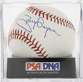 Autographs:Baseballs, Tony Gwynn Single Signed Baseball, PSA Mint+ 9.5. Playing hisentire career with the San Diego Padres, Toy Gwynn wielded one...