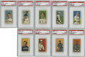Baseball Cards:Lots, 1909-11 T206 Tobacco Cards, PSA VG 3 Group Lot of 9. Impressive andglorious in their appearance, the cards that we offer ...