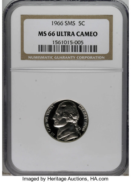 1966 5C SMS MS66 Deep Cameo NGC  NGC Census: (8/9)  (#94198