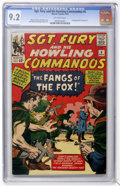 Silver Age (1956-1969):War, Sgt. Fury and His Howling Commandos #6 (Marvel, 1964) CGC NM- 9.2 Off-white pages....