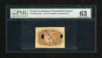Fr. 1235exnmb 5c Second Issue PMG Choice Uncirculated 63. This is a high-grade example of a Back Near Margin Experimenta...