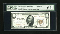 San Francisco, CA - $10 1929 Ty. 2 The Anglo California NB Ch. # 9174 Embossing is seen through the third-party holder...