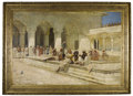 Fine Art - Painting, American:Antique  (Pre 1900), EDWIN LORD WEEKS (American 1849-1903). The Hour of Prayer AtMuti-Mushid (Pearl Mosque), Agra, circa 1888-89. Oil on can...