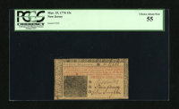 New Jersey March 25, 1776 15s PCGS Choice About New. This is a closely margined note that is well signed and attractive...