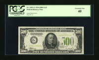 Fr. 2201-G $500 1934 Light Green Seal Federal Reserve Note. PCGS Extremely Fine 40. The circulation is light and even on...
