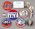 Political:Pinback Buttons (1896-present), Lot of Eleven Political Items. ... (Total: 11 Items)