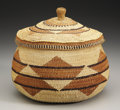 American Indian Art:Baskets, A NORTHERN CALIFORNIA TWINED AND LIDDED BASKET. c. 1920...