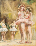 Pin-up and Glamour Art, PAL FRIED (American/Hungarian 1893 - 1976). Four Ballerinas.Oil on canvas. 30 x 24 in.. Signed lower left. ...
